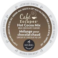 Cafe Escapes Milk Chocolate Hot Cocoa, K-Cups for Keurig Brewers 96 Count