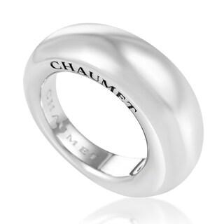 Women's 18K White Gold Signature Band Ring CHA10-072116 (Option: 7.75)