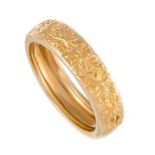 La Vina Yellow Gold Floral Band Ring