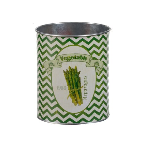Set of Two Asparagus Oversized Tins