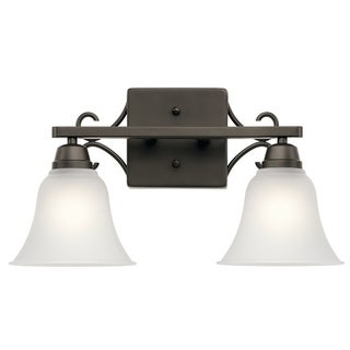 Kichler Lighting Bixler Collection 2-light Olde Bronze Bath/Vanity Light
