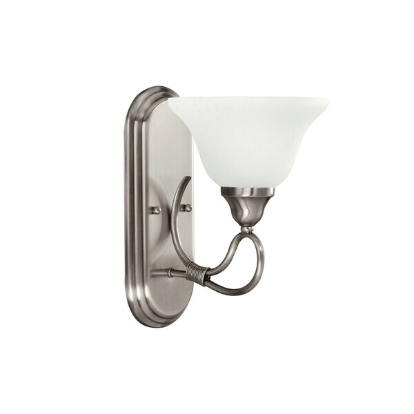 kichler lighting stafford collection 1 light antique pewter wall