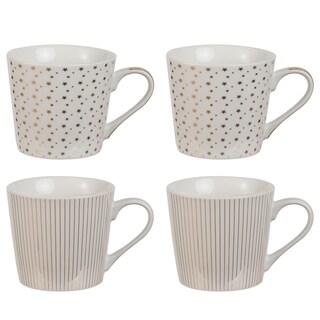"Set of 4, 4x3x4"" Croydon Mugs"