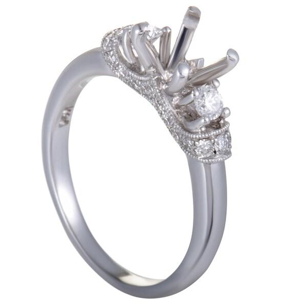fa4cdc298 Scott Kay ~.38ct 14K White Gold Diamond Engagement Ring Mounting