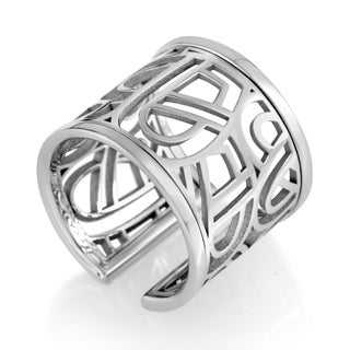 Wire Heart Framework White Gold Band Ring PPD8810