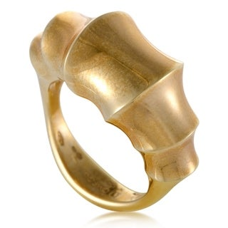 Womens Yellow Gold Bamboo Ring