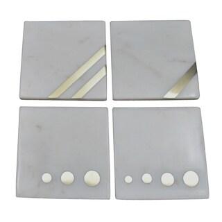 """Banswara S/4 Marble Coasters, 4x4x2"""""""