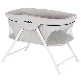 cc40419cb013 Dream On Me Traveler Portable Bassinet in Cloud Gray | Overstock.com  Shopping - The Best Deals on Bassinets