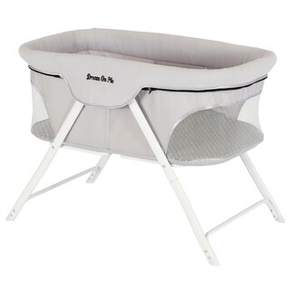 Dream On Me Traveler Portable Bassinet in Cloud Gray