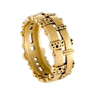 Woven Fence 18K Yellow Gold Band Ring
