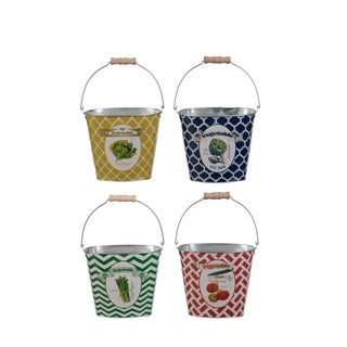 "Set of 4, 7x4x6"" Abington Pails"
