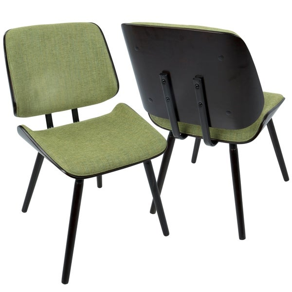 Lombardi Mid-Century Modern Upholstered Dining/Accent Chair (Set of 2). Opens flyout.