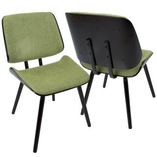 Lombardi Mid-Century Modern Upholstered Dining/Accent Chair (Set of 2)