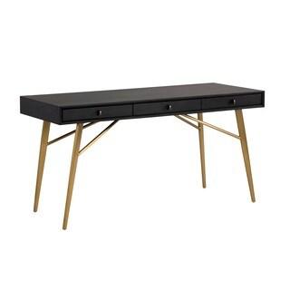 Irongate Giana Smoked Grey 3-drawer Desk