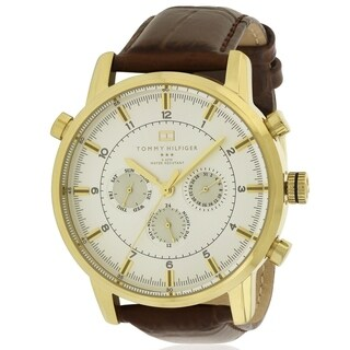 Tommy Hilfiger Croc-Embossed Leather Chronograph Mens Watch