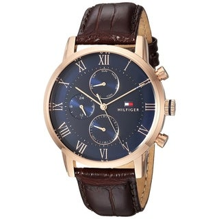 Tommy Hilfiger Leather Chronograph Mens Watch 1791399