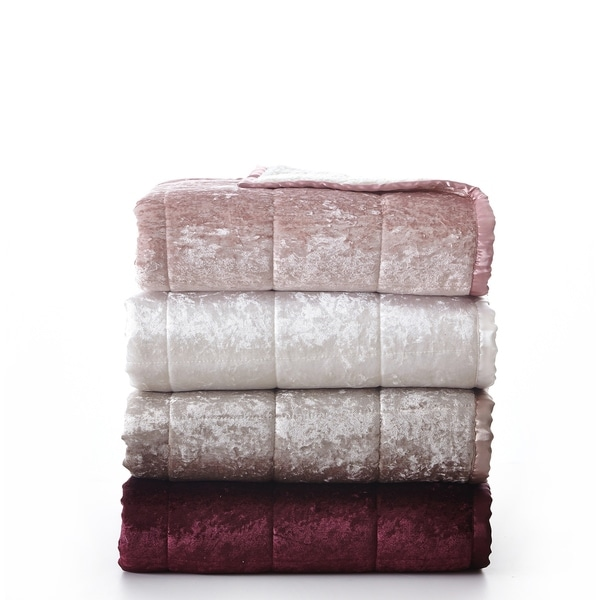 Shop De Moocci Crushed Velvet Throw Blanket Ships To Canada Awesome Pink Throw Blanket Canada