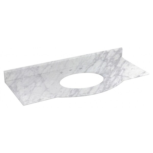 49.5-in. W X 22-in. D Marble Top In Bianca Carara Color For 3H8-in. Faucet