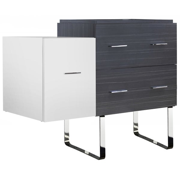 37.25-in. W X 18-in. D Modern Plywood-Melamine Vanity Base Set Only In Dawn Grey
