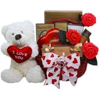 All My Love Chocolate Valentine Gift Basket - all my love- valentine gift basket