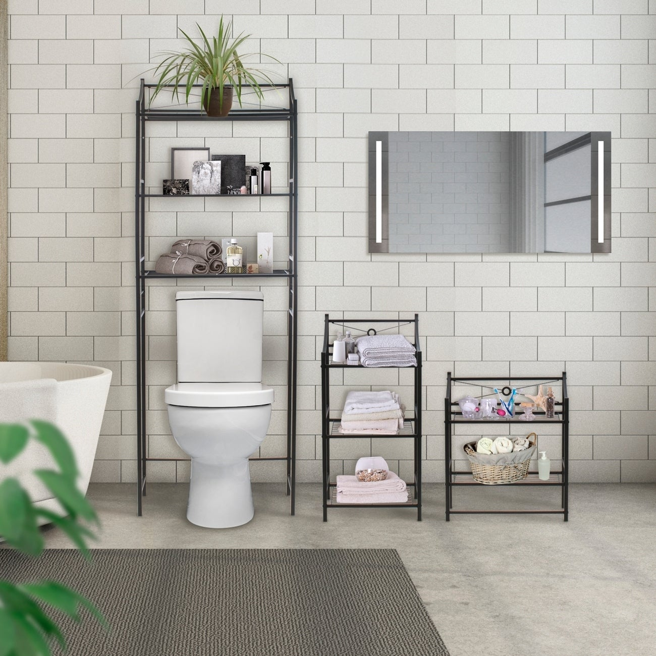 Sorbus Bathroom Storage Shelf - Freestanding Shelves | eBay