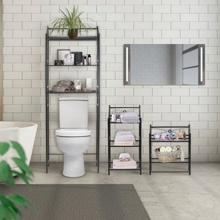 Link to Sorbus Bathroom Storage Shelf - Freestanding Shelves for Bath Essentials, Planters, Books, and much more   Similar Items in Bathroom Furniture