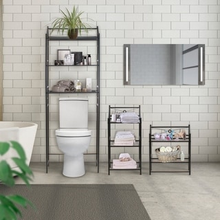 Sorbus Bathroom Storage Shelf - Freestanding Shelves for Bath Essentials, Planters, Books, and much more