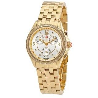 Michele Belmore Chronograph Gold-Tone Ladies Watch MWW29B000009