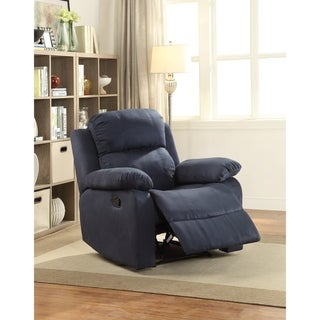 Acme Furniture Parklon Blue Microfiber Recliner