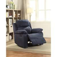 Acme Furniture Parklon Blue Microfiber Recliner