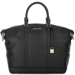 Michael Kors Beckett Large Leather Satchel - Black - 30T7GBUS3L-001