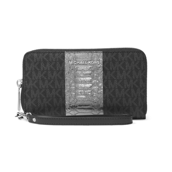 a8fe8148d9b0 Shop Michael Kors Money Pieces Travel Continental Wristlet - Black -  32F7SFDE4B-001 - Free Shipping Today - Overstock - 19786442