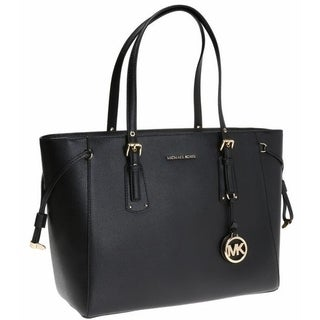 MICHAEL KORS Voyager Medium Leather Tote - Black - 30H7GV6T8L-001