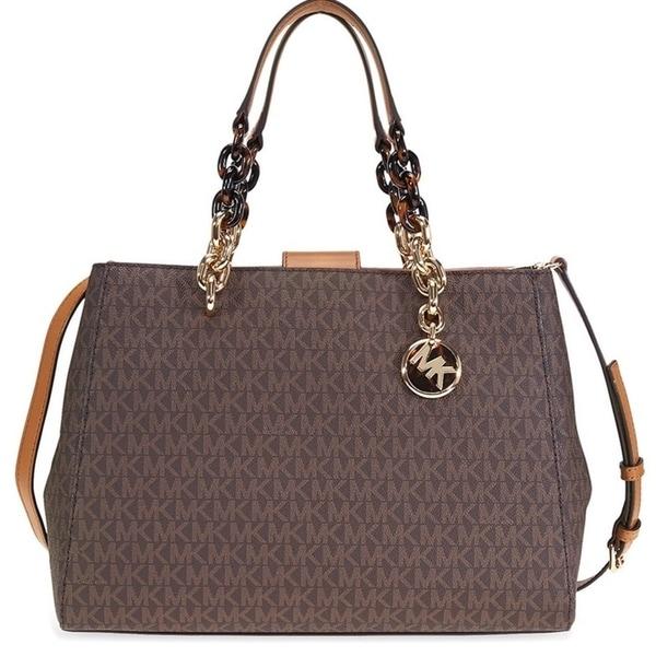 b1b44d7d11b8 ... where to buy michael kors cynthia logo satchel brown 30f7gcys2b 200  c896d 375b7