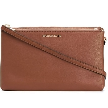 6b98d2b3345c Shop Michael Kors Adele Leather Crossbody - Acorn - 32S7GAFC3L-532 - Free  Shipping Today - Overstock - 19786463