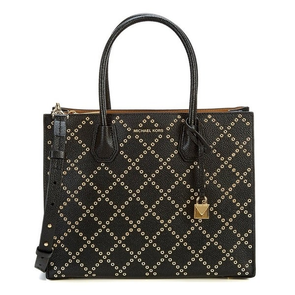 e7a23b71c9ec Shop Michael Kors Mercer Tote Bag - Black - 30F7GZ4T3U-001 - Free Shipping  Today - Overstock - 19786469
