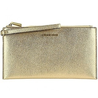 1ddd9b417d65 Shop Michael Kors Mercer Large Zip Clutch - Pale Gold - 32F6MM9W3M-740 -  Free Shipping Today - Overstock - 19786483