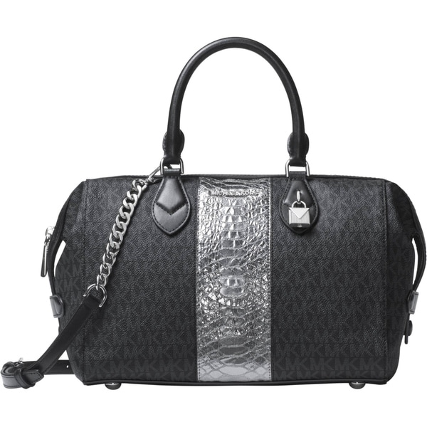 shop michael kors grayson large convertible satchel black rh overstock com