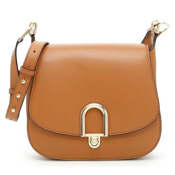 31d4fcf9bd3d8 Shop Michael Kors Delfina Large Leather Saddlebag - Acorn - 30T7GDZM3L-532  - Free Shipping Today - Overstock - 19786512