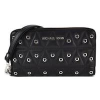 Michael Kors Grommets Leather Multi-functional Wallet - Black - 32F7SFDE9O-001