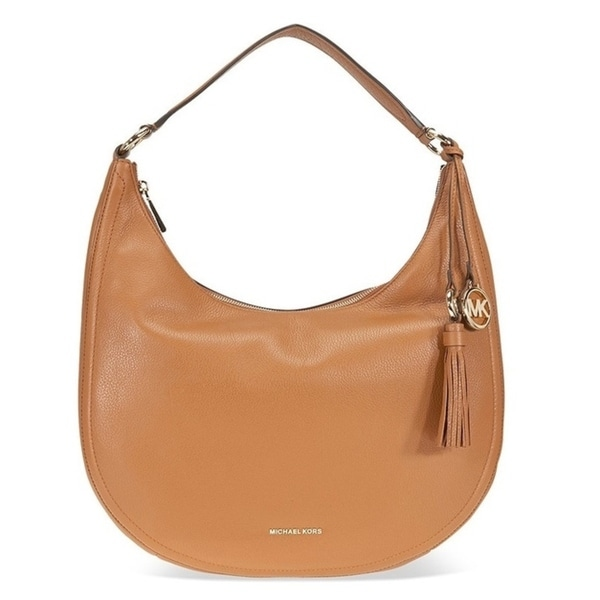e020f73a0db31 Shop Michael Kors Lydia Leather Shoulder Bag - Acorn - 30F7GL0L3L-532 -  Free Shipping Today - Overstock - 19786537