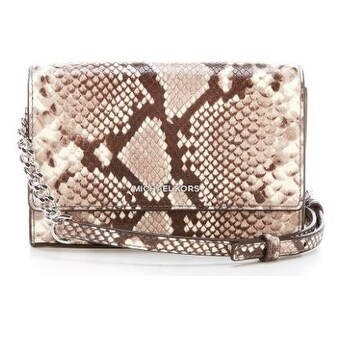 b87ba2900792 Shop Michael Kors Ruby Snake-Embossed Clutch - Natural - 30F7SR0C2N-270 -  Free Shipping Today - Overstock - 19786539