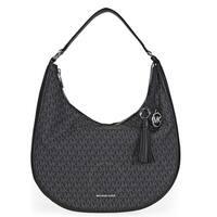 Michael Kors Lydia Logo Shoulder Bag - Black - 30F7SL0L3B-001