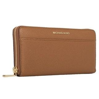 Michael Kors Womens Mercer Zip Around Continental Wallet - Acorn - 32S7GM9E9L-532