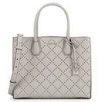 Michael Kors Mercer Grommeted Leather Tote - Grey - 30F7SZ4T3U-081