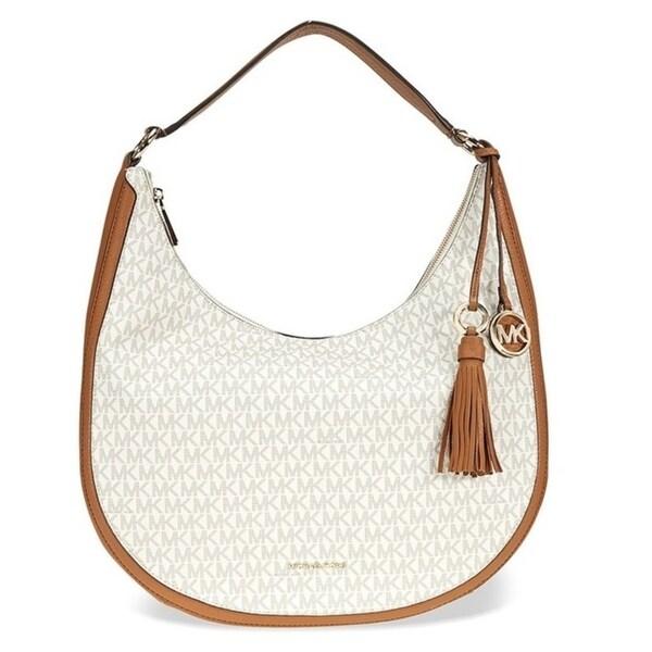 c6077bf8514f Shop Michael Kors Lydia Logo Shoulder Bag - Vanila - 30F7GL0L3B-150 ...