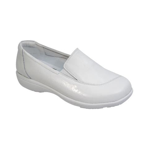 24 HOUR COMFORT Lila Women Adjustable Extra Wide Width Step in Loafer
