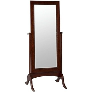 Oakes Cheval Brown Wood Mirror