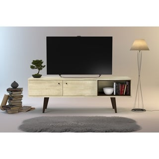 Strick & Bolton Waller Mid-Century 2-Cabinet TV Stand