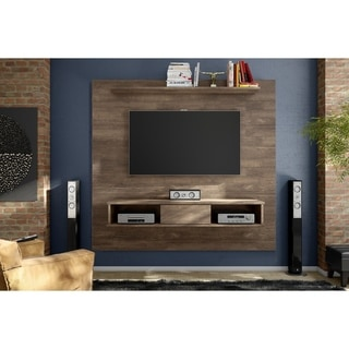 manhattan comfort city 1 2 floating wall theater entertainment center free shipping today. Black Bedroom Furniture Sets. Home Design Ideas